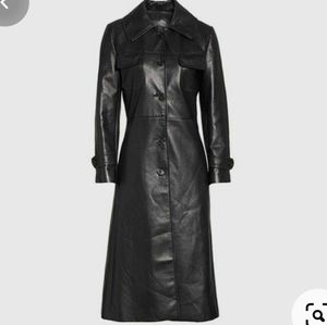 Danier Leather Matrix Style Black Trench Coat S
